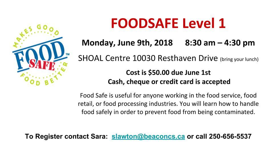FOODSAFE Level 1 (June 2018)