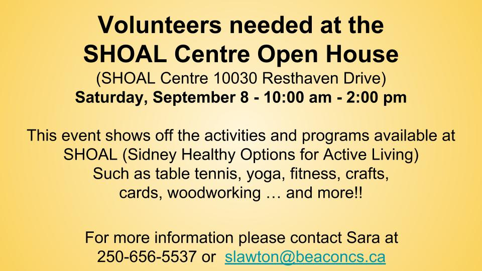 SHOAL Centre Open House